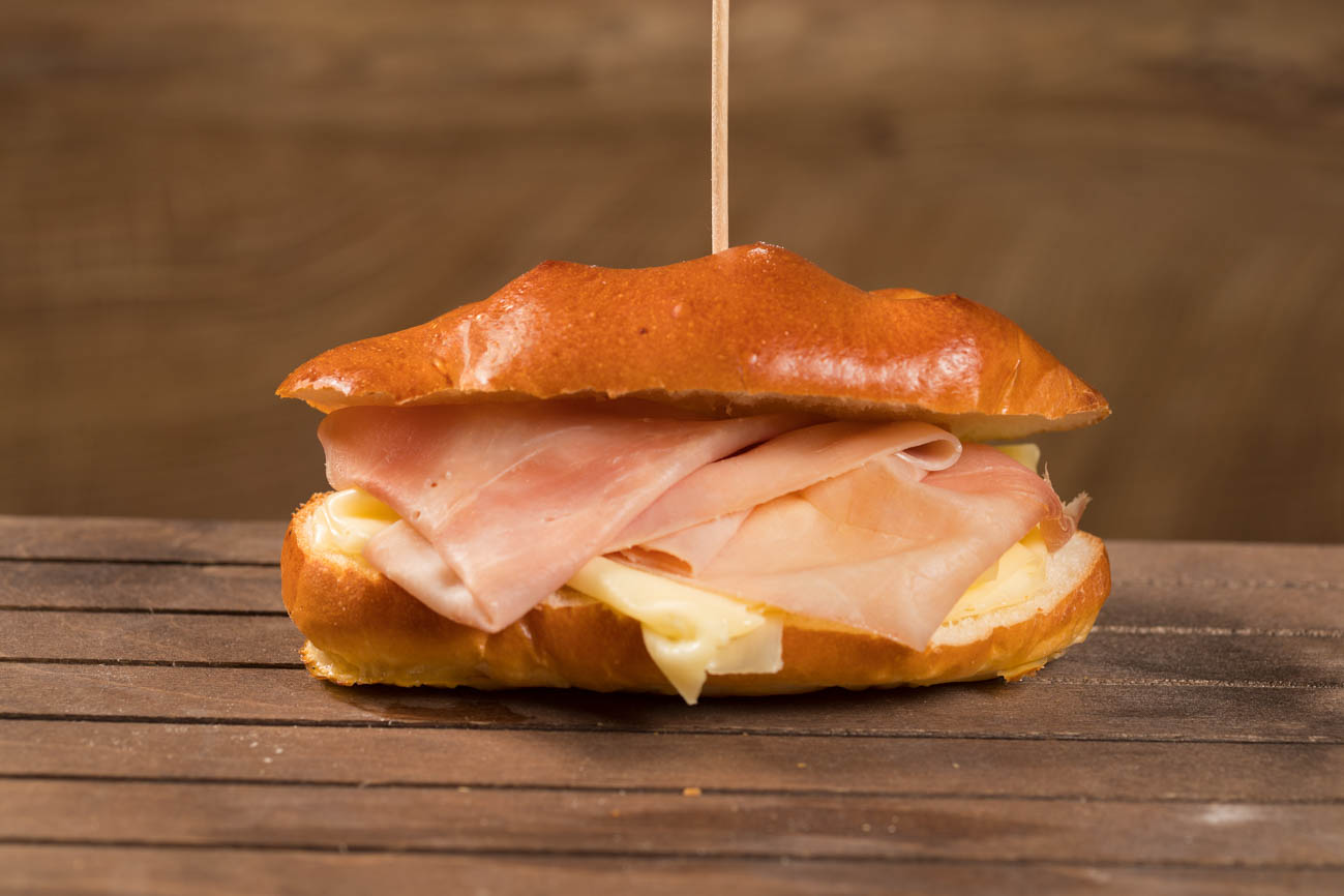 sweet bread ham and cheese sandwich