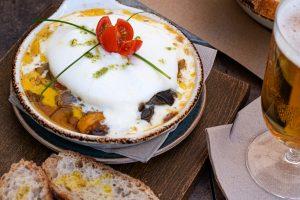 cinc food parlour burrata and vegetables